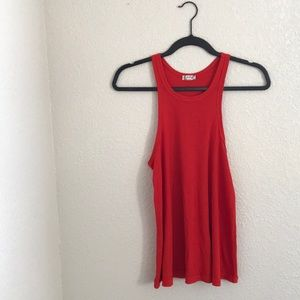 Free people red muscle shirt